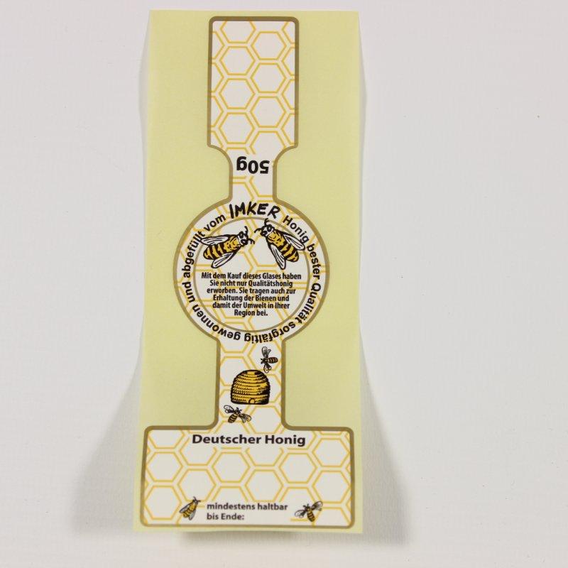 Honigglas-Etikett für 50 g - 50 Stück, Imkereibedarf im Eic
