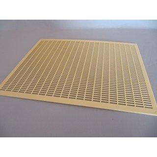 Kunststoff Rundgitter 478x378 mm für Liebig Zander-Beute gelb