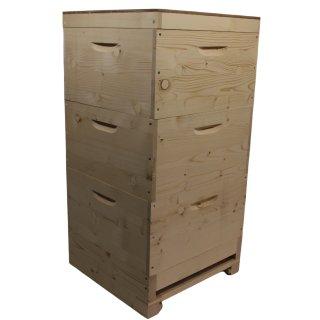 DN Holzbeute mit Hochboden IB-EIC komplett inkl. Bausperre, Fluglochkeil und Bodenschieber