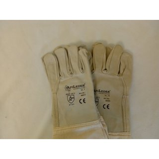 Nappa-Lederhandschuhe Größe 10