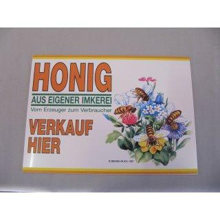 """Werbeschild """"Honig aus eigener Imkerei"""" 21x15cm 6-farb"""