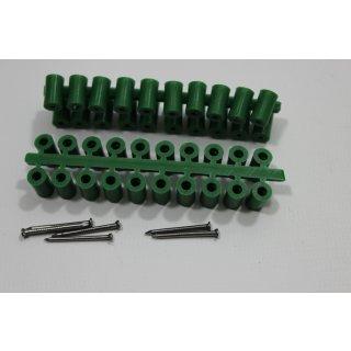 Abstandröllchen Großpackung (1000 Stück) grün mit Nägeln