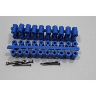 Abstandröllchen Großpackung (1000 Stück) blau mit Nägeln