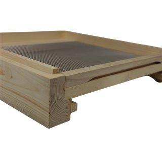 Flachboden für DN-Holzbeute mit Keil und Schieber