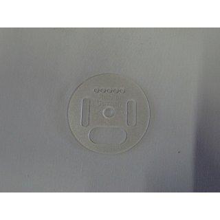 Flugloch-Drehscheibe Kunststoff 50mm klar