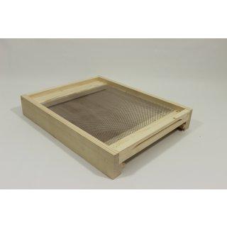 Flachboden für Liebig Beute inkl. Bodenschieber, Fluglochkeil