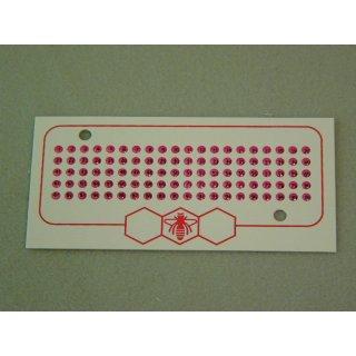 Leucht Opalith Karte mit Nummern 1-99 rot