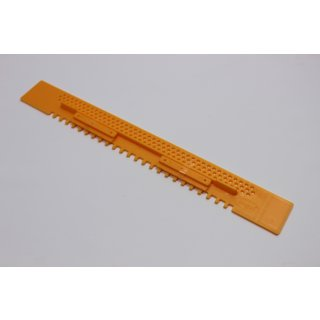 Fluglochschieber Plastik gelb 450 mm lang
