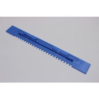 Fluglochschieber Plastik blau 450 mm lang