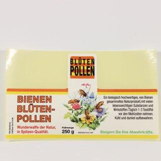 Blütenpollen Etiketten klein 250g Rolle mit 100 Stück