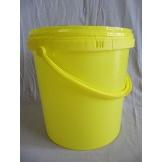 Honig-Eimer 12,5 kg Plastik gelb, ohne Aufdruck