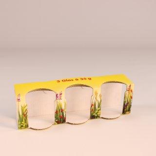 Geschenkkarton Blumenwiese für 3 Gläser à 35g