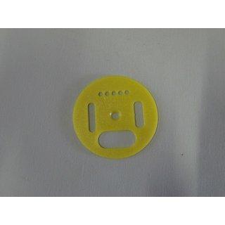 Flugloch-Drehscheibe Kunststoff 50mm gelb