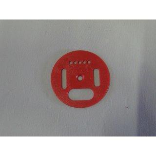 Flugloch-Drehscheibe Kunststoff 50mm rot
