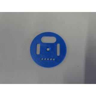 Flugloch-Drehscheibe Kunststoff 50mm blau