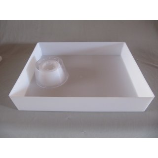Futtertrog eckig, Inhalt 6 Liter, Außenmaß ca. 335 x 405 x 75 mm