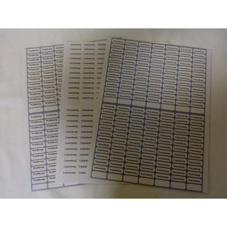 Sortenetiketten - selbstklebend - 168 Stück pro Bogen
