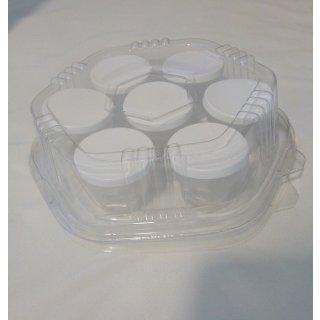 Verkaufs- und Geschenkpackung für 7 Stück 30g Probierbecher