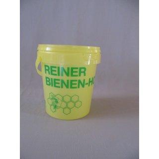 Honig-Eimer 1 kg Plastik gelb, grün bedruckt