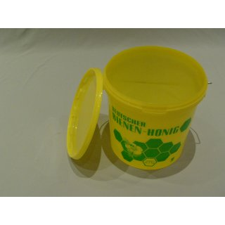 Honig-Eimer 12,5 kg Plastik gelb, grün bedruckt