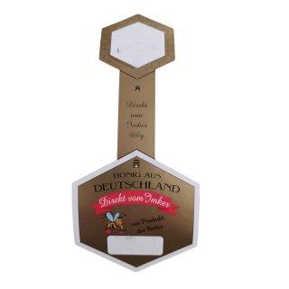 Honigglas-Stegetikett 500 g auf Rolle 200 Stück