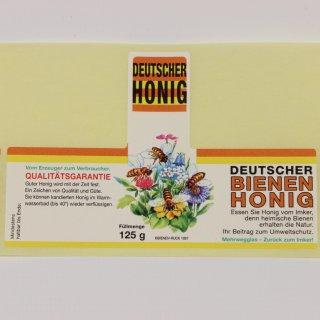 "Honigglas-Etikett ""Blüten"" 125g -100 Stück"