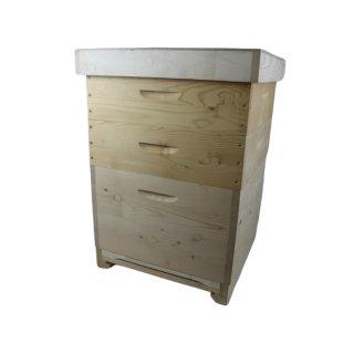 Dadant US Holzbeute II  12 Waben, Honigraum mit Metallrechen