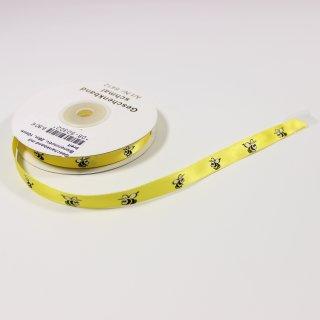 Geschenkband mit Bienenmotiv, 25m, 10mm breit