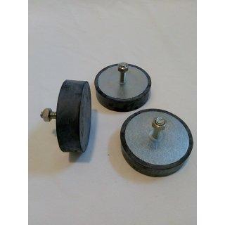 Gummifüße für Schleuderbeine 63 - 77cm, 3tlg. Satz