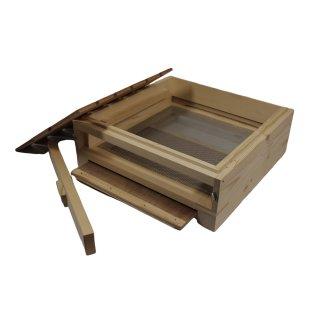 DN-Holz-Hochboden IB-EIC mit Bausperre, Fluglochkeil und Bodenschieber