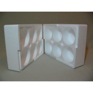 Styropor-Pack für 6 x 500 g Honiggläser, DIB, Neutral oder Twist- Off Glas
