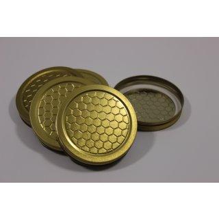 Blechdeckel für 500g Neutralglas mit Wabenmuster