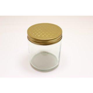 Neutralglas 500g incl. Blechdeckel mit Wabenprägung im 12er Karton  (VE=12 Stück)