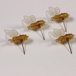 Plastik-Bienchen mit Anstecknadel 50 Stück
