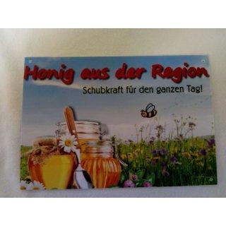 """Werbeschild """"Honig aus der Region"""" 21x14,8cm"""
