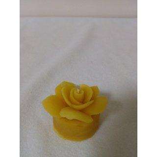 Teelicht mit Rose, reines Bienenwaschs, ca. 22g