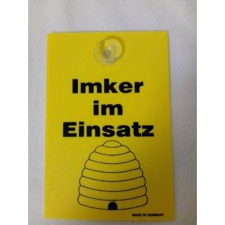 """Schild """"Imker im Einsatz"""" 10x15cm"""