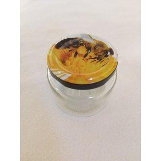 Rundglas 108ml (ca 125g Honig) mit 53mm TO Biene (VE=48)