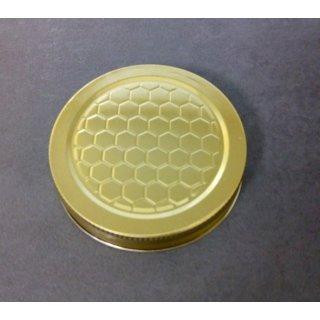 Blechdeckel für 250g Neutralglas mit Wabenmuster