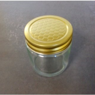Neutralglas 250g incl. Blechdeckel mit Wabenprägung im 12er Karton  (VE=12 Stück)
