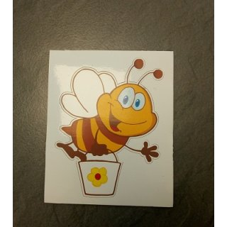 Aufkleber Biene klein, 6 x 7,5 cm