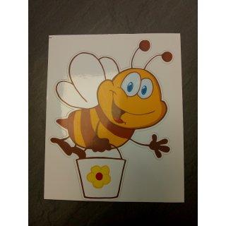 Aufkleber Biene groß, 12 x 15 cm