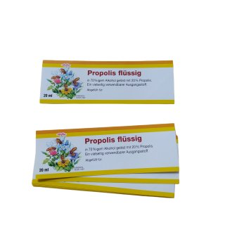 Propolis Etiketten flüssig für 20ml, 10 Stück