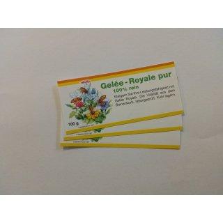 Gelee-Royale-Etiketten für 100ml Glas, 10 Stück