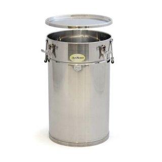 Lagerbehälter 50kg, Edelstahl, mit Spannverschlüssen