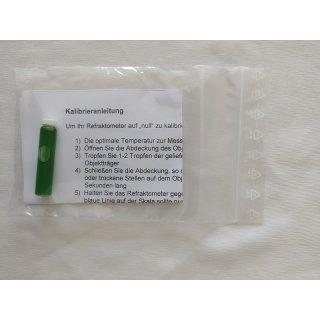 Kalibrierflüssigkeit für Refraktometer mit Anleitung