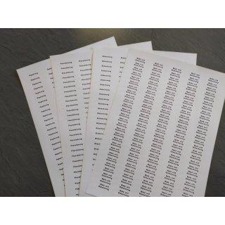 Sortenetiketten - selbstklebend - 135 Stück pro Bogen