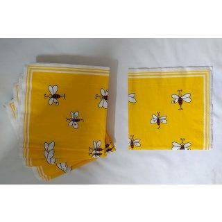 Servietten gelb mit Bienen, 20 Stück