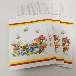 Papiertragetaschen Blütenmotiv 22x18x7,5cm