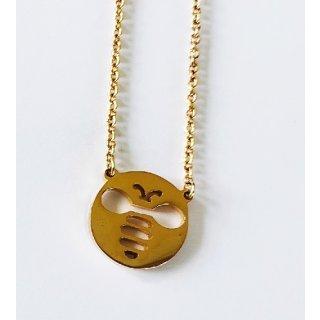 """Kette mit Anhänger """"Biene rund"""" in gold"""